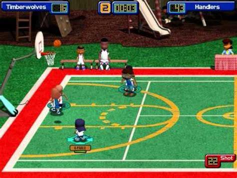 backyard basketball game online backyard basketball season game 1 vs wolves