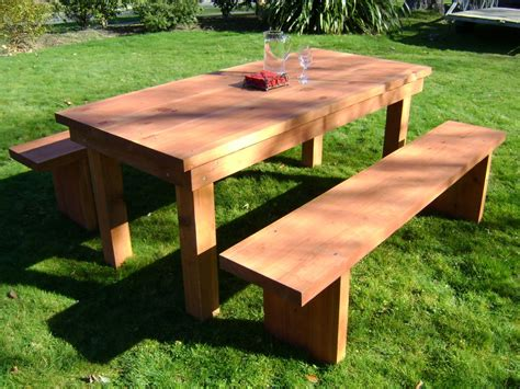wooden outdoor table with bench seats patio stunning wood patio table design ideas round wood