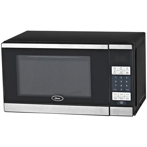 oster kitchen appliances oster 174 stainless steel 0 7 cu ft digital microwave oven