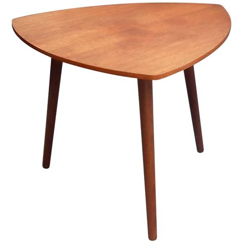Triangle Shaped Coffee Table Mid Century Triangular Guitar Shaped Teak Coffee Table Circa 1960 For Sale At 1stdibs