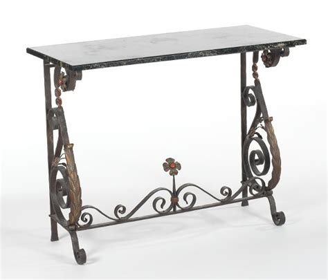 outdoor wrought iron console table furniture two prominent cleveland heights trusts