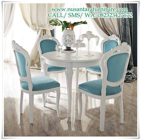 kursi makan romantis warna putih terbaru furniture jepara kursi sofa tamu ukir mewah