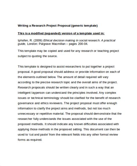 research project template sle research project template 7 free documents