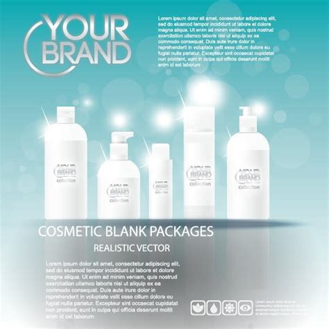 design poster cosmetic cosmetic poster template design vector 04 vector cover