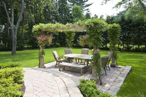 wisteria vine pergola landscape traditional with arbor