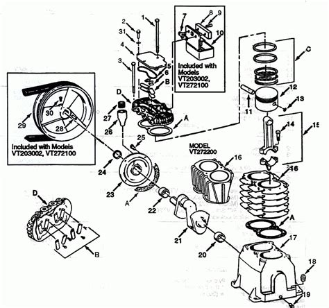 ingersoll rand air compressor parts diagram automotive parts diagram images