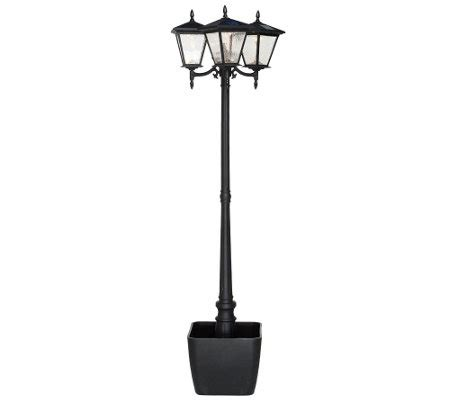 energizer solar 3 head l post w detachable planter