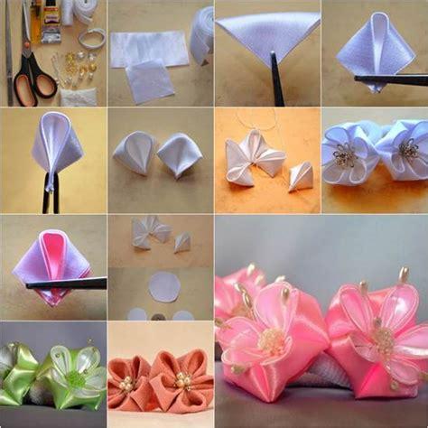 creative ideas diy and ribbon how to diy petals ribbon flower