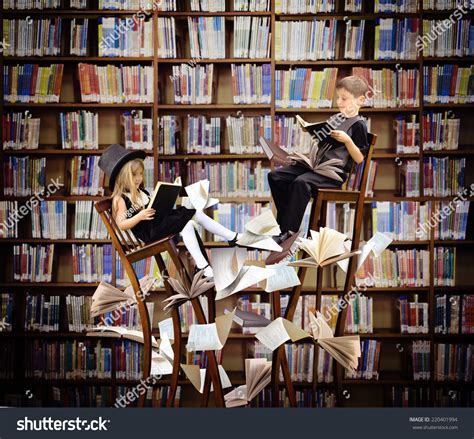 read picture books two children reading books on stock photo 220401994