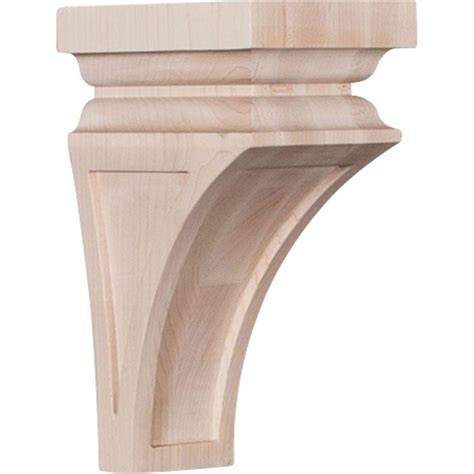Small Wood Corbels Ekena Millwork 4 In X 8 In X 4 3 4 In Alder Small Nevio