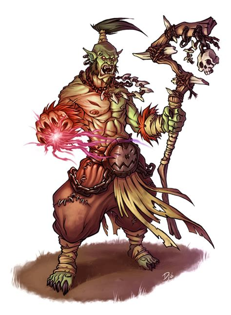 orc shaman by thedjib on deviantart