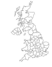 blank map of the united kingdom
