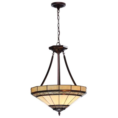 Hton Bay Pendant Light Hton Bay Pendant Lighting Hton Bay Ceiling Pendant 1 Light Lighting Tea Stained Glass Shade