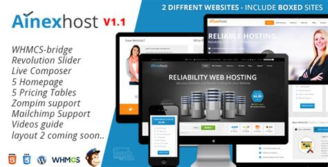 whmcs template nulled ainex host v1 0 whmcs integration theme free