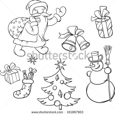coloring pictures of christmas symbols yury shchipakin s quot cartoon and retro christmas quot set on