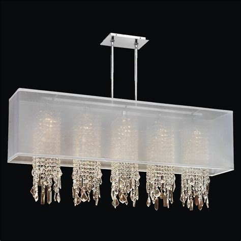 crystal l shade chandelier rectangular shade chandelier with crystal omni 627m