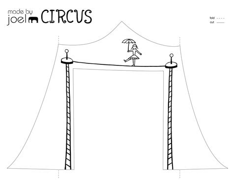 circus template free made by joel 187 paper city circus