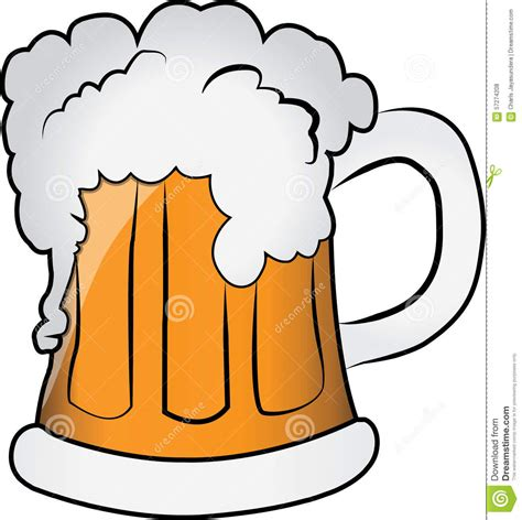 cartoon beer pint mug of beer stock illustration image 57274208