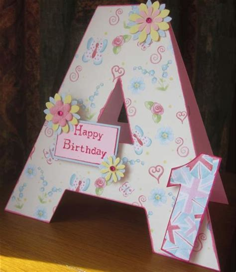 how to make birthday cards for country view crafts projects initial birthday cards by