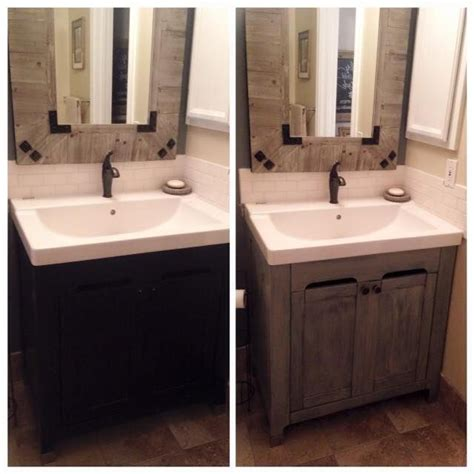 15 Best Before And Afters Images On Pinterest Farmhouse Painting Bathroom Vanity Before And After