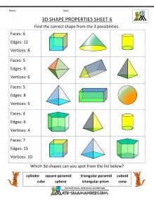 properties of 3d shapes ks2 worksheet abitlikethis
