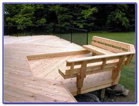 diy deck bench seating decks home decorating ideas