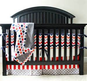 Orange And Blue Crib Bedding Custom Crib Bedding Orange Grey Blue And By Gigglesixbaby
