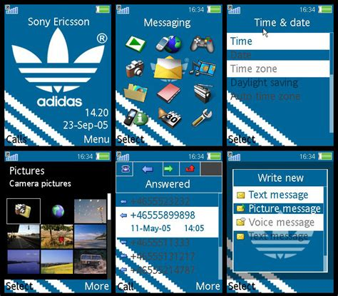 themes adidas clock adidas theme for k800i by barkerbaggies on deviantart