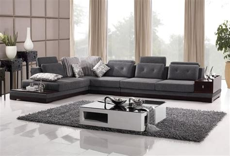 gresham sectional sofa fabric grey black and brown