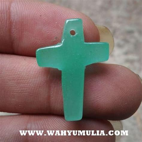 Giok Dinasti Ming Asli batu liontin giok salib asli kode 603 wahyu mulia