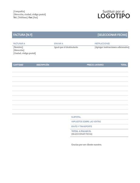 descargar plantillas facturas servicios profesionales factura atemporal office templates