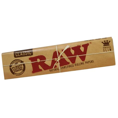 raw natural king size slim rolling papers the altered native
