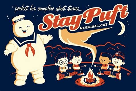 Stay Puft Marshmallow Man Meme - stay puft marshmallow man movie vintage poster