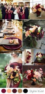 wedding color combos 25 best ideas about fall wedding colors on