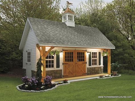 backyard shed ideas 12 x 20 liberty a frame shed w timberframe porch vinyl