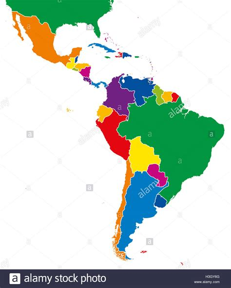 south america map borders america single states map all countries in
