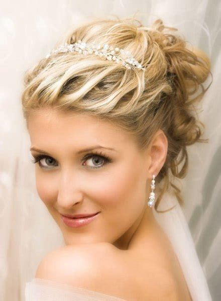 wedding hairstyles with tiara hairstyles 2015
