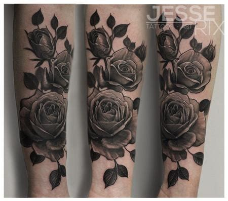 black and gray rose tattoos rix s designs tattoonow