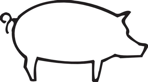 Pig Clipart Outline pig outline clip at clker vector clip royalty free domain