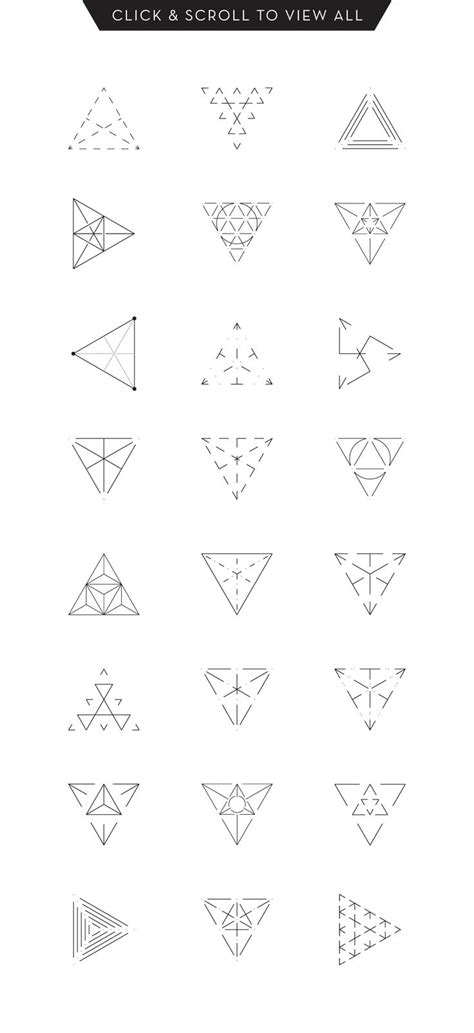 geometric triangle tattoo best 25 geometric triangle ideas on