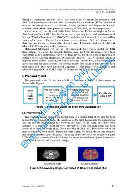pattern recognition k nearest neighbor a robust technique of brain mri classification using color