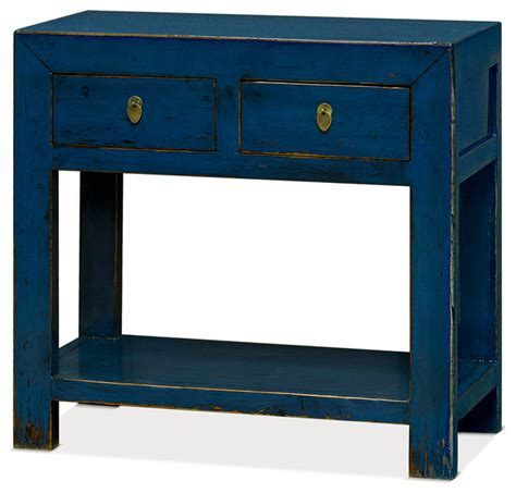 distressed blue console shop houzz china furniture and arts elm wood chinese