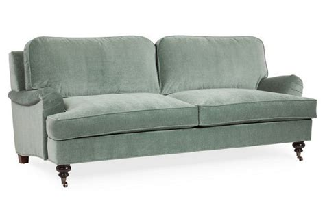 sage color sofa bradley 85 quot velvet sofa sage sofas and daybeds