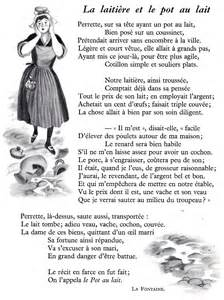 La Laiti 232 Re Et Le Pot Au Lait Jean De La Fontaine