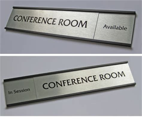 room name signs silver name plates silver bankers signs custom metal office signs