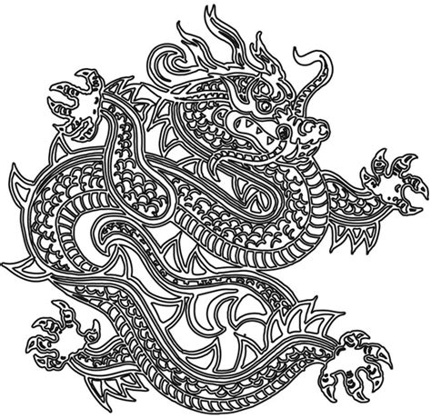 tattoo pictures to color dragon outline free images at clker com vector clip