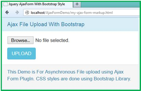 html tutorial upload file asynchronous file upload and bootstrap progress bar