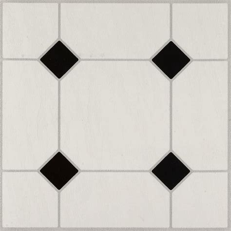 Black And White Vinyl Sheet Flooring by Jubilee Black White 24320 Vinyl Tile