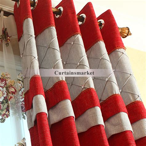 red and white curtains for bedroom simple chenille red white chenille fabric bedroom curtains and drapes of bright red