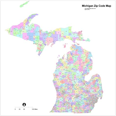 michigan area code map map of michigan zip codes michigan map